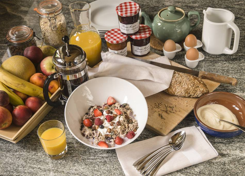 Get a good start to your day with Edelweiss's own birchermuesli