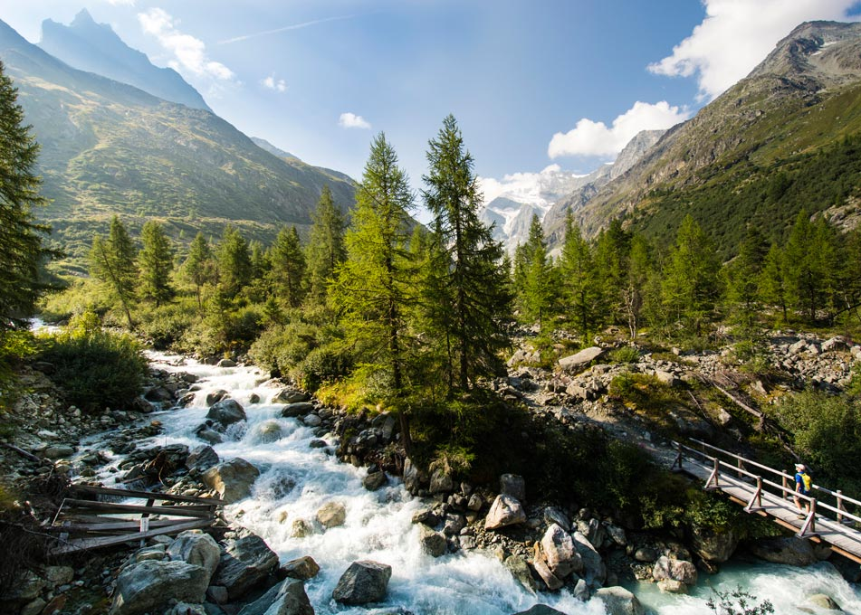 Spectacular rivers and waterfalls to walk to
